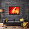 Anti-Aircraft Missile Launching In The Air Multi Panel Canvas Wall Art