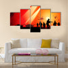 Antiaircraft missiles rockets aimed to the sky Multi Panel Canvas Wall Art