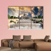 Palau Nacional situated in the montjuic in the sunset, Barcelona wall art