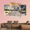 The Palau Nacional situated in Montjuic in sunset, Barcelona Multi panel canvas wall art