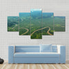 Meandering river from the air Multi panel canvas wall art