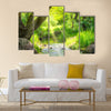 Stream in the tropical forest Multi Panel Canvas Wall Art