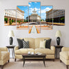 An architectural ensemble of three Socialist Classicism edifices Multi panel canvas wall art