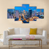 Eleveted, night view of Makati multi panel canvas wall art