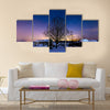 Beautiful Hokkaido Biei star Multi Panel Canvas Wall Art