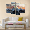 Evening view of Ama Dablam on the way to Everest Base Multi panel canvas wall art