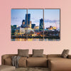 Financial district of the City of London in the morning multi panel canvas wall art