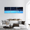 Whole tennis court panoramic canvas wall art