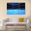 Whole tennis court from the perspective of the player sport theme Multi panel canvas wall art