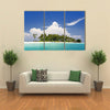 A Remote Island In Malaysia With Deep Blue Skies And Crystal Clear Water Multi Panel Canvas Wall Art
