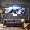 The Mountains Of The Titlis Valley Are Covered By Snow, Switzerland, Multi Panel Canvas Wall Art