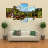 The Tropical Jungle River At The Beach Of Masoala National Park in Madagascar, Multi Panel Canvas Wall Art