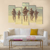 United States paratroopers airborne infantrymen in action in the desert Multi Panel Canvas Wall Art