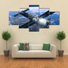 Space Station And Spacecraft In Space Multi Panel Wall Art
