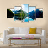 Milford Sound New Zealand Travel Destination Concept Multi panel canvas wall art