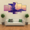Volcano eruption at Anak Krakatau, Indonesia multi panel canvas wall art