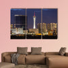 Stormy night sky behind the Stratosphere and Fontainebleau towers wall art
