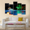 A Beautiful Resort At The Night Multi Panel Canvas Wall Art