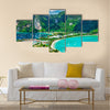 Green tropical island Multi panel canvas wall art