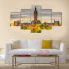 View of the University of Glasgow - Scotland, Multi Panel Canvas Wall Art