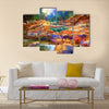 Beautiful fall river lines with colorful stones Multi Panel Canvas Wall Art