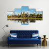 Cambodian landmark Angkor with reflection Siem Reap, Cambodia Multi panel canvas wall art