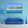 Amazing Exotic Iceland with beautiful tall palm trees white sandy beaches and azure Multi panel canvas wall art