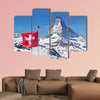 Matterhorn with Flag of Switzerland multi panel canvas wall art