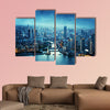 Skyline of Shanghai at sunset, China multi panel canvas wall art