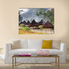 A traditional mountain village in Papua, Indonesia Multi panel canvas wall art