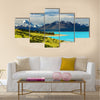 Mount Cook and Pukaki lake, New Zealand Multi panel canvas wall art
