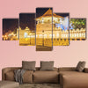 Night view of the Temple of the Buddha Tooth with lights, Kandy, Sri Lanka, Asia multi panel canvas wall art