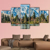 Panoramic view of Queenstown New Zealand multi panel canvas wall art