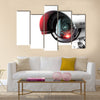 Security CCTV camera in office building Multi panel canvas wall art