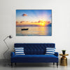 Colorful Sunrise Over Ocean On Maldives Multi Panel Canvas Wall Art