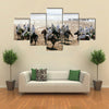 Fantasia on the beach of Essaouira Multi panel canvas wall art