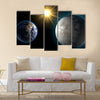 Earth and Kepler Multi Panel Canvas Wall Art