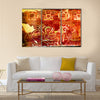 Ancient Drinking Tequila Pulque Painting Mural Wall Indian Mexico City  Multi Panel Canvas Wall Art