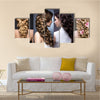 Wedding Hairstyles Beautiful Girls Beauty Hair Photo Taken in the Studio Multi Panel Canvas Wall Art