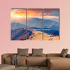 Colorful autumn sunrise in the Carpathian Mountains canvas wall art