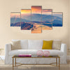 Colorful autumn sunrise in the Carpathian mountains Multi panel canvas wall art