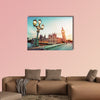 Big Ben seen from Westminster Bridge, London multi panel canvas wall art