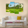 Panorama of golf course on Koh Samui Multi Panel Canvas Wall Art