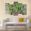 World map made form green peas Multi panel canvas wall art