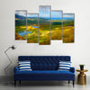 Sunny Mountain and lake landscape on Dingle peninsula, Ireland Multi Panel Canvas Wall Art
