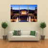 City of Barcelona by night in Catalonia Spain view from Montjuic Multi panel canvas wall art