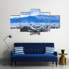 Beautiful aerial view of Reykjavik city, Iceland Multi Panel Canvas Wall Art