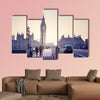Westminster Bridge at sunset, London, UK multi panel canvas wall art