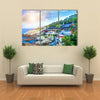 Haedong Yonggungsa Temple and Haeundae Sea in Busan, South Korea Multi panel canvas wall art