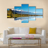 Beautiful lake, New Zealand, Southern Alps Multi panel canvas wall art